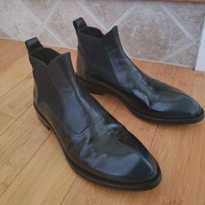 John Fluevog Men's Sz 11 Black Leather Chelsea Boo